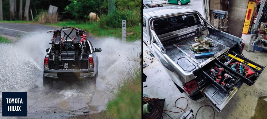 Toyota Hilux, rangement Decked